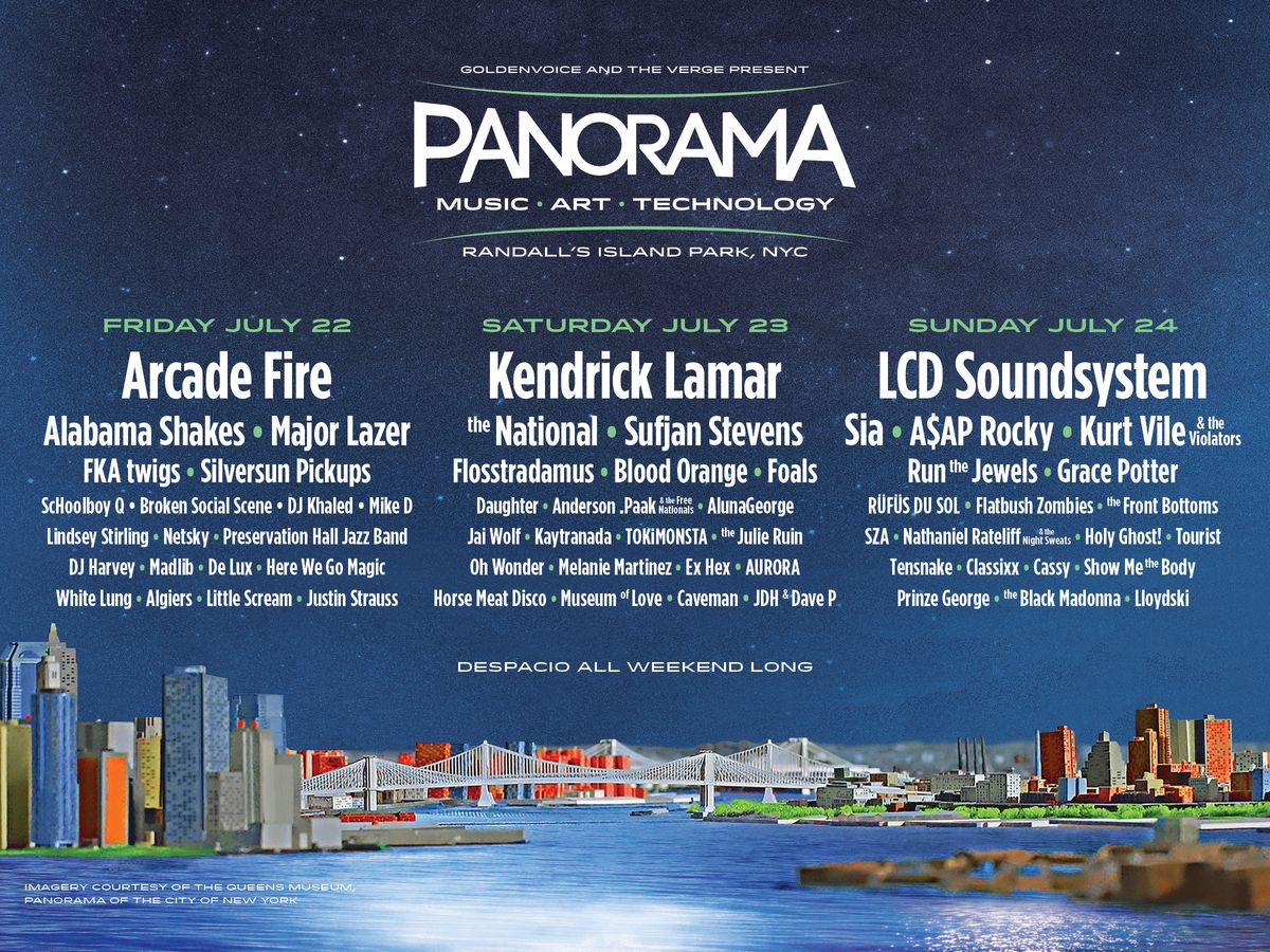 panorama music festival, goldenvoice, the verge