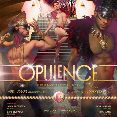 cherry, opulence, gay party